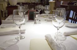 Gość restauracji stół Zdjęcie Royalty Free