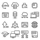 Gościć ikonę, baza danych symbol Fotografia Stock