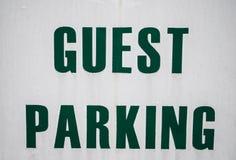 Gościa parking Zdjęcia Stock