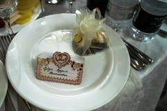 Gościa stołu karta Obraz Royalty Free