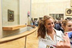 Goście biorą fotografię Leonardo DaVinci Zdjęcie Stock