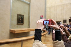Goście biorą fotografię Leonardo DaVinci Zdjęcia Stock