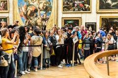 Goście biorą fotografię Leonardo DaVinci ` s Obrazy Stock