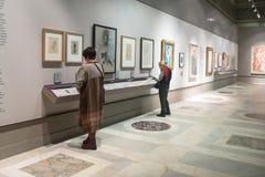 Goście blisko stoją w Pushkin muzeum w Moskwa zdjęcie royalty free