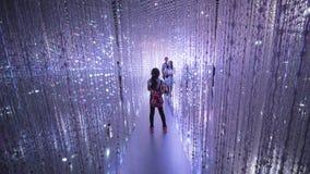 Goście chodzi wśrodku ArtScience muzeum Obraz Royalty Free