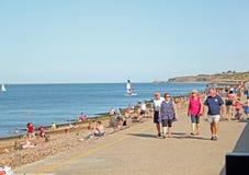 Goście Herne Zatoki Plaża Zdjęcia Royalty Free