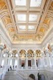 Goście w bibliotece kongresu w Waszyngtońskim d C fotografia stock