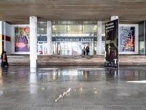 Goście zbliżają wejście Nowa Tretyakov galeria obrazy royalty free