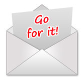 Go for it!. Taking your chances and going for it Royalty Free Stock Photo