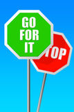 Go for it Stock Image