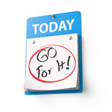 Go For It Royalty Free Stock Images