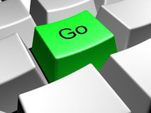 Go. Button Royalty Free Stock Image