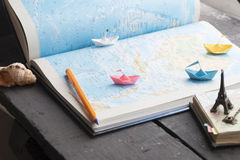 Go on an adventure. Preparing for the journey. Stock Images