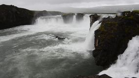 Goðafoss in Iceland stock video