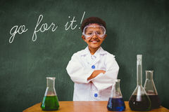 Go for it! against green chalkboard Stock Image