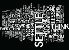 Go Ahead Settle For Less Word Cloud Concept Royalty Free Stock Image