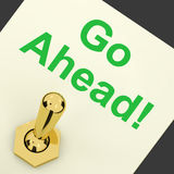 Go Ahead Switch Shows Begin Start Or Beginning. Go Ahead Switch Showing Begin Start Or Beginning Stock Photography