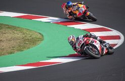 Moto GP Emilia Romagna, Misano, 20 September 2020: Nakagami and A. Marquez