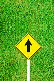 Go ahead traffic sign on grass field Royalty Free Stock Image