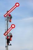Go-Ahead Train Signal Stock Image