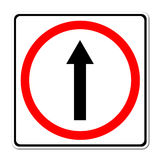 Go ahead the way ,forward sign Stock Image