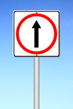 Go ahead the way ,forward sign Royalty Free Stock Images