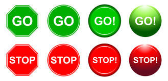 Free Go And Stop Stock Image - 41550101