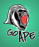 Go Ape : Cool Gorilla Icon stock illustration