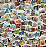 Go Asia - background with travel photos of Asia. I used my own photos for this collage  with landmarks of Nothern and Southern India,Nepal and Sri Lanka Stock Photography