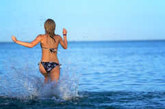 Go Away In Sea Royalty Free Stock Photography