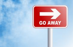 Go away sign Stock Photo