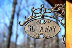 Go away sign royalty free stock photos