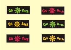 Go Back Buttons (set 2) Stock Photos