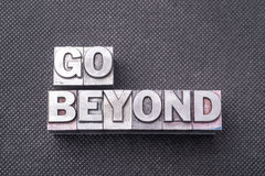 Go beyond bm Royalty Free Stock Image