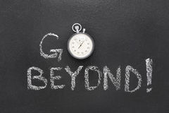 Go beyond watch Stock Images