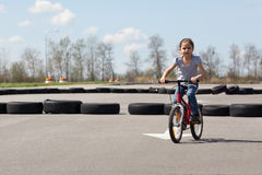 Go bike racing Royalty Free Stock Photography