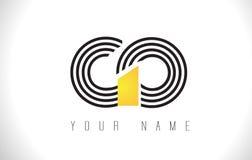GO Black Lines Letter Logo. Creative Line Letters Vector Templat vector illustration