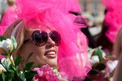 Go Blonde parade in Riga stock photos