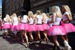 Go Blonde parade in Riga Stock Image