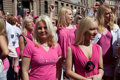 Go Blonde parade in Riga Royalty Free Stock Photos
