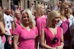 Go Blonde parade in Riga Royalty Free Stock Photos