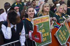 Go Bokke - Mass farewell for Boks Royalty Free Stock Photo