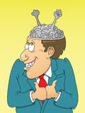 Go Brain. This is a  image done in multiple layers for easy editing Royalty Free Stock Photography