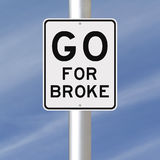 Go For Broke Royalty Free Stock Image