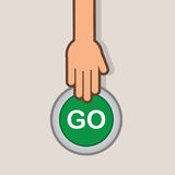 Go Button Hand Royalty Free Stock Photography