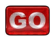 Go button or headlight Stock Photo