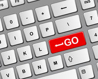Go button of keyboard Royalty Free Stock Photography