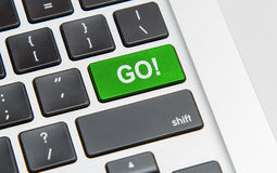 Go button Royalty Free Stock Photo
