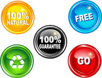 Go buttons Stock Images