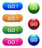 Go buttons Royalty Free Stock Image